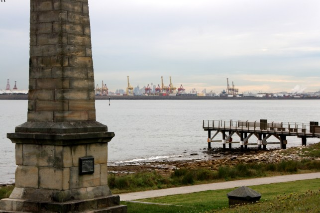 Capt Cook's landing site at Botany Bay with Port Botany on the northern shore.