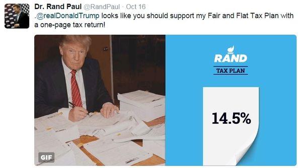 GOP presidential candidates tax trash talk on Twitter Rand ...