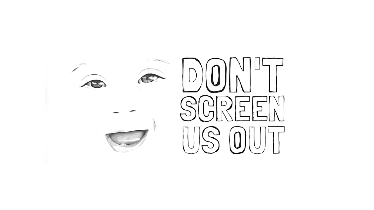 Don't Screen Us Out logo