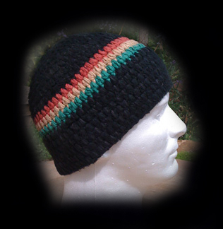 Hemp Bamboo Puff Stitch Beanie