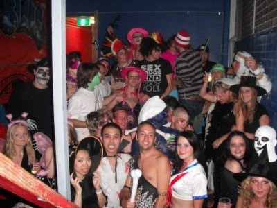 Halloween party at Chilli Blue Hostel in Sydney with Jonny Blair a lifestyle of travel