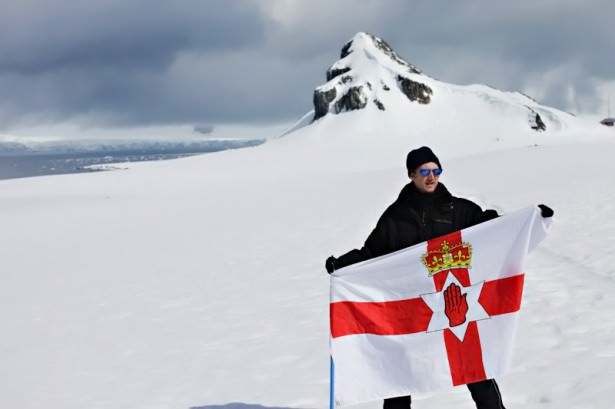 Jonny Blair - Don't Stop Living - flying the Northern Ireland flag in Antarctica in 2010!