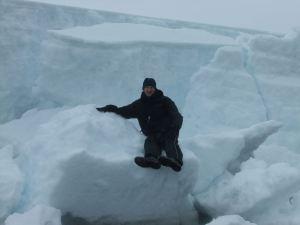Jonny Blair living the immense travel lifestyle in Antarctica in 2010