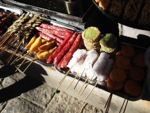 Barbecued food in Shuhe Old Town China a lifestyle of travel