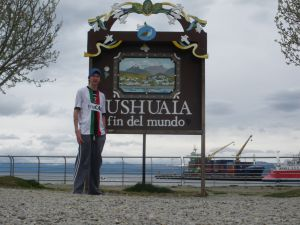 Jonny Blair in Ushuaia ARGENTINA at the end of the world a lifestyle of travel