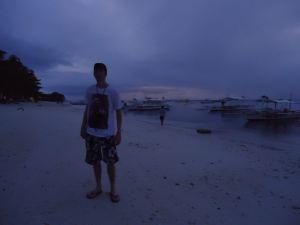 Jonny Blair on Alona Beach in the Philippines