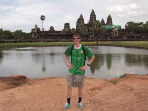 Jonny Blair at Angkor Wat in Cambodia