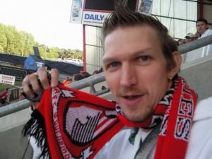 Ulster Cherry at AFC Bournemouth - Jonny Blair Northern Irish Cherries fan