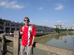 Relaxing at the historic town of Chikan in Guangdong in China