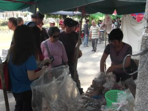 Market stalls in Chikan in the Kaiping Diaolou Tour