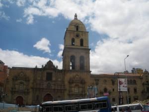 Big church in central La Paz Jonny Blair a lifestyle of travel