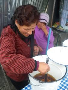 Jonny Blair loving mocochinchi in La Paz Bolivia