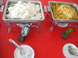 Indonesian Steamed Rice and Fried Rice in Yogyakarta