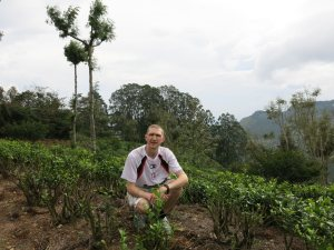 Jonny Blair in Haputale tea plantations in Sri Lanka