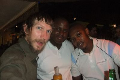 Jonny Blair partying in Botswana