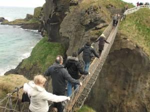 Carrick a rede rope bridge Northern Ireland