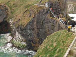 walking down to the carrick a rede rope bridge