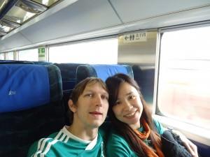 Jonny Blair and Panny Yu Hung Hom to Guangzhou train