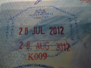 cambodian visa entrance stamp