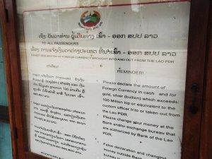 laos to cambodia border sign