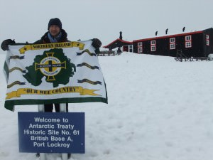 northern ireland flag antarctica port lockroy