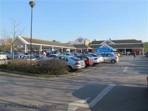car park at Tesco Branksome poole england