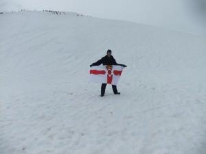 northern ireland flag in antarctica