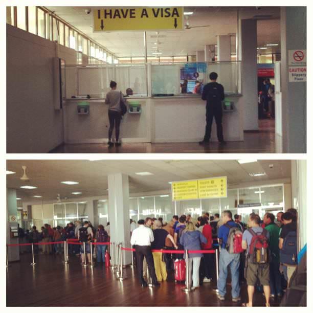 visa queues at kilimanjaro