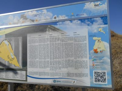 garni temple information boards