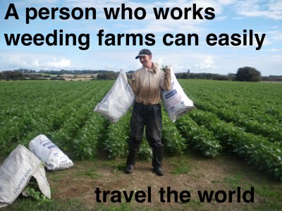 farm weeders travel the world