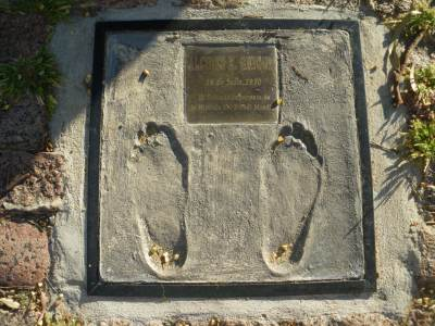 Footprint of Ghigia who was the hero for Uruguay in their amazing 2-1 World Cup Final win against Brazil in the Maracana in 1950.