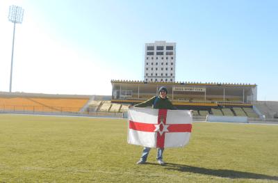 jonny blair football stadium iraq erbil
