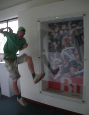 Doing the Maradona.