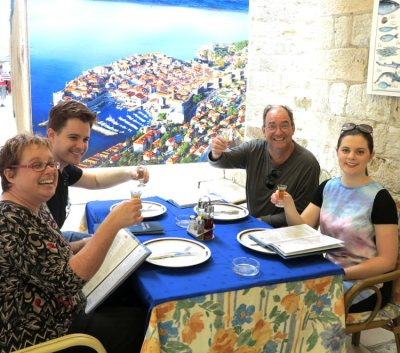 World Travellers: Carmen and Dave with Dave's parents in Dubrovnik, Croatia