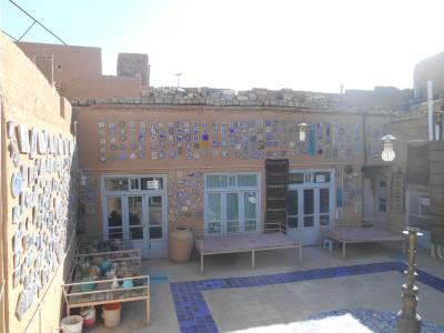The Zoroastrian Handicrafts Shop in Yazd, Iran.