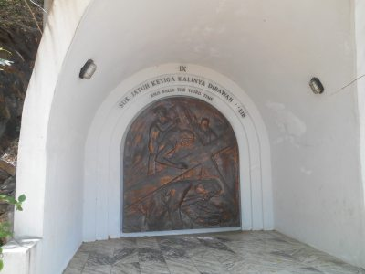 One of the alcoves on the walk up to the Jesus Statue.