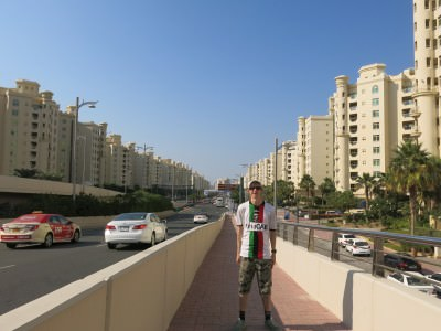 backpacking palm jumeirah