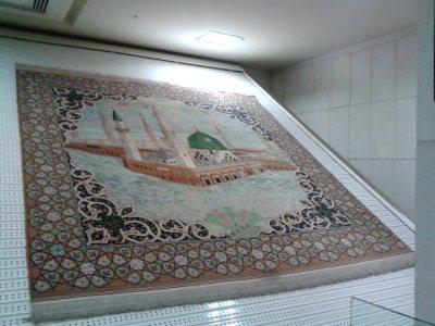 Carpets in the Carpet Museum inside the Imam Reza complex.