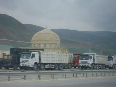 The road from Baku to Quba.