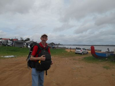 By the beach before leaving French Guyana