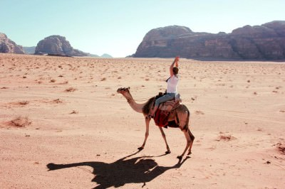 Yeah Baby! Laura Coolen on a camel!
