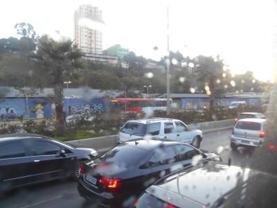 Arrival into Belo Horizonte by night bus from Rio de Janeiro.