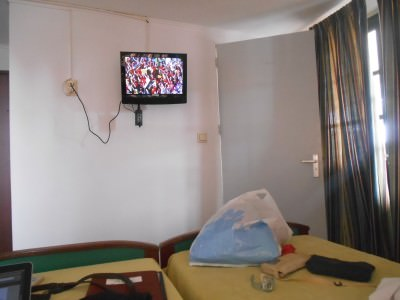 Lazing it out in Guesthouse Amice watching USA v Belgium.
