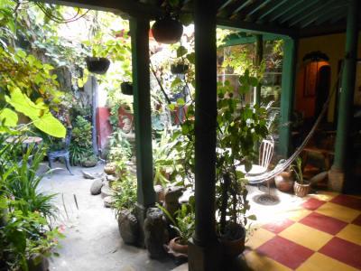 The cosy courtyard in Posada Belen