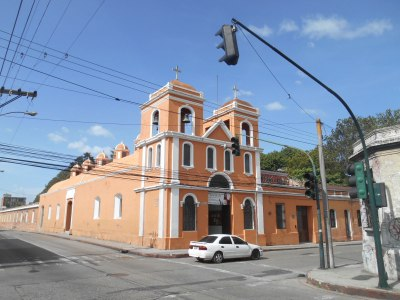 One of many colourful churches near Posada Belen Museo Inn
