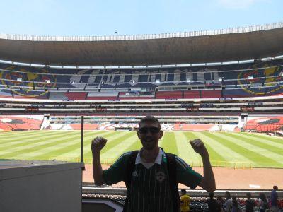 In the stand at Estadio Azteca.