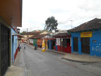 Pretty streets of San Cristobal de las Casas.