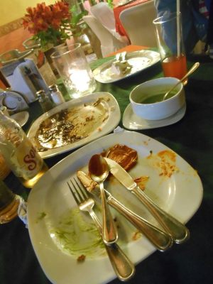 Empty plates all round! Scoffed the lot - delicious!