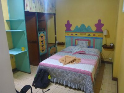 My cosy room in Kaps Place, San Jose, Costa Rica.