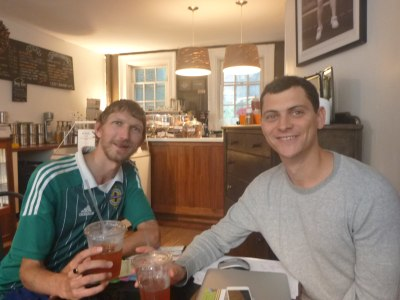 Afternoon tea with Nomadic Matt in NYC.